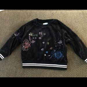 Gymboree Black velour pull over Sz XXS /3 $28